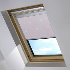 Digip001 Pink Polka Dot Skylight Blind