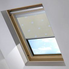 Digip002 Lemon Polka Dot skylight Blind