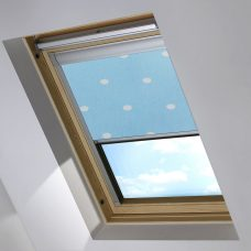 Digip003 Blue Polka Dot Skylight Blind