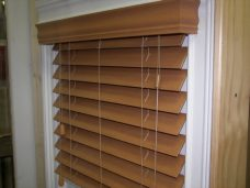 Faux Wood Blinds -Waterproof PVC Blinds /Bathroom/ Kitchens