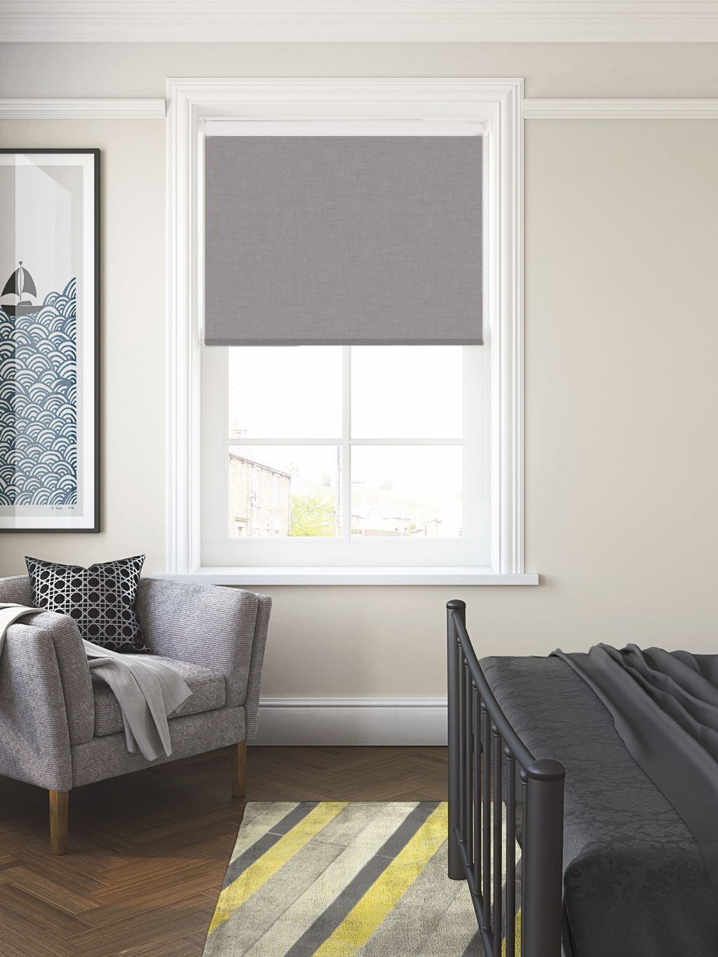 Spectrum Cobble FR BO Roller Blind
