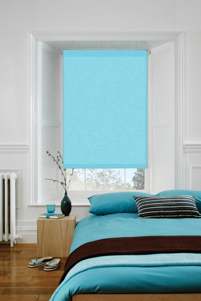 Spectrum Soft Blue Roller Blind 2