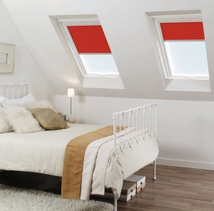 Velux Blinds in 4572 Flash Red