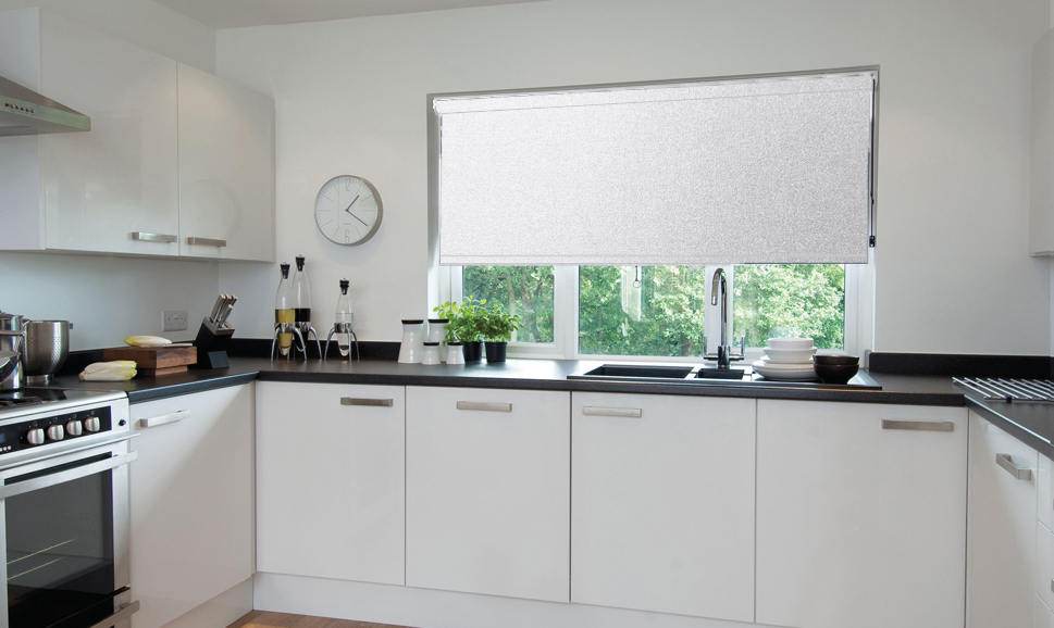 Athena Canvas White Roller Blind