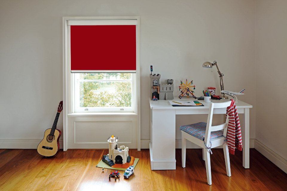 Blocout XL Blind in Redcurrant in a child's room