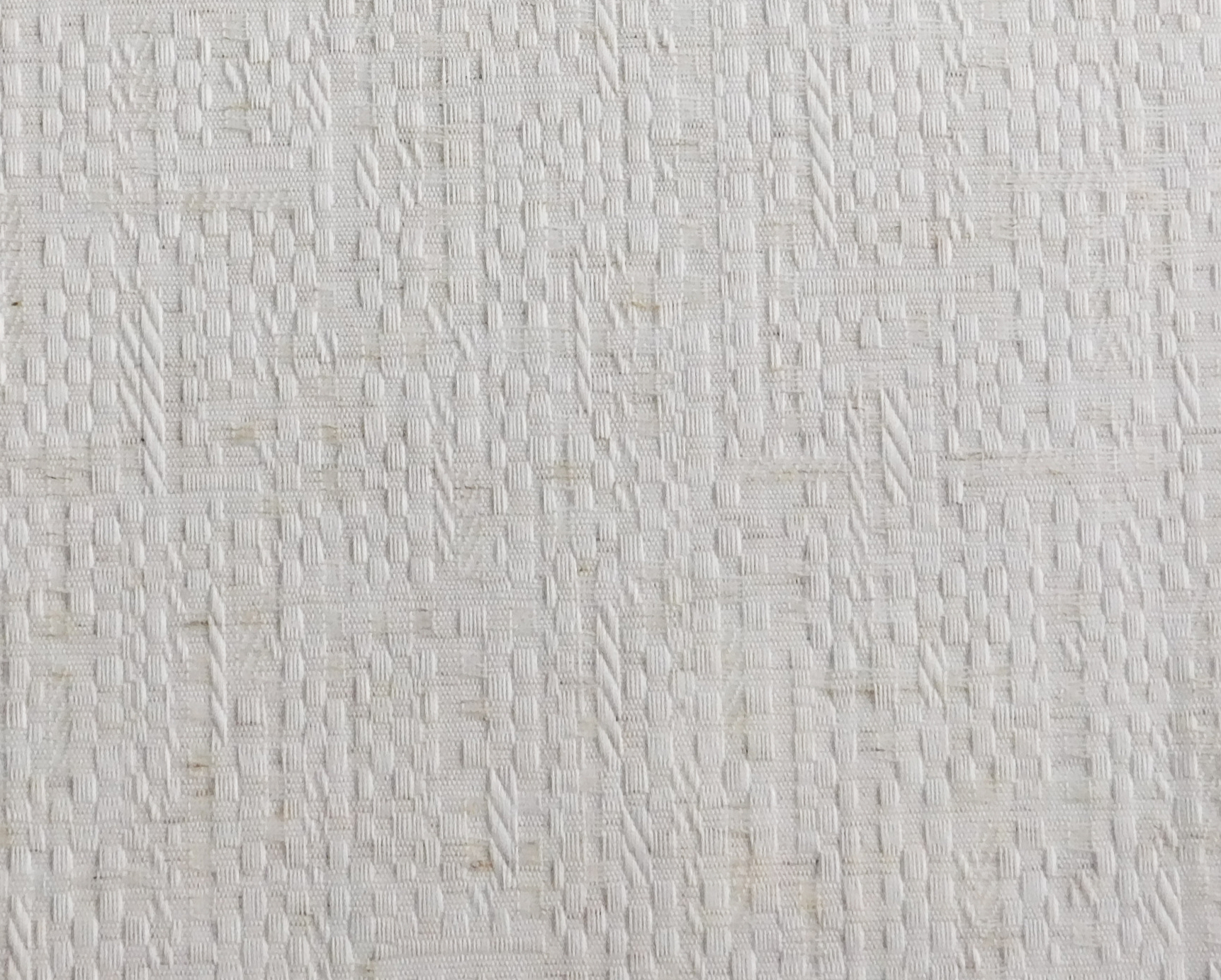 Hudson White Blind Sample Fabric