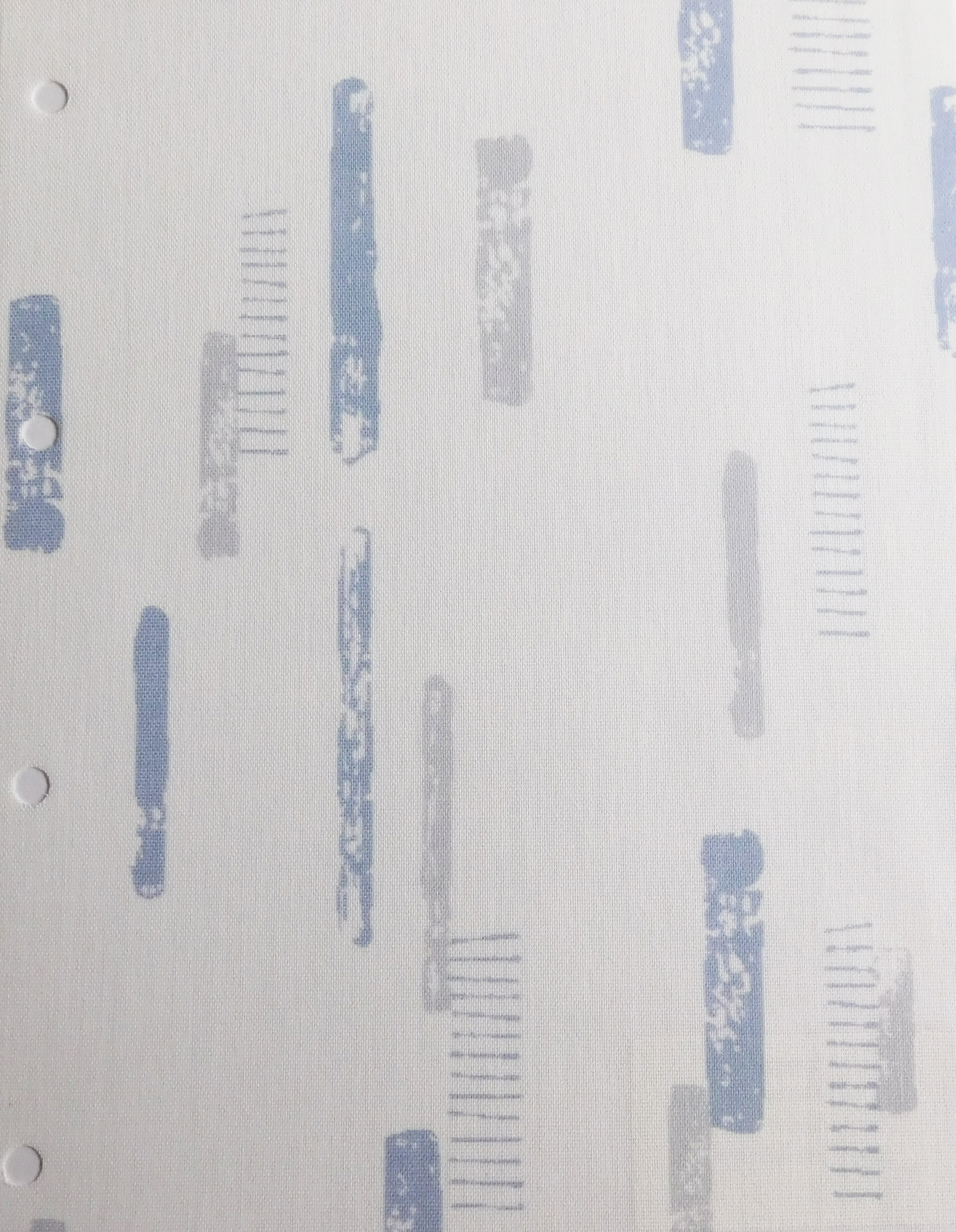 Linear Denim Blind Sample Fabric
