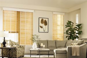 Maple faux wood blinds with tapes