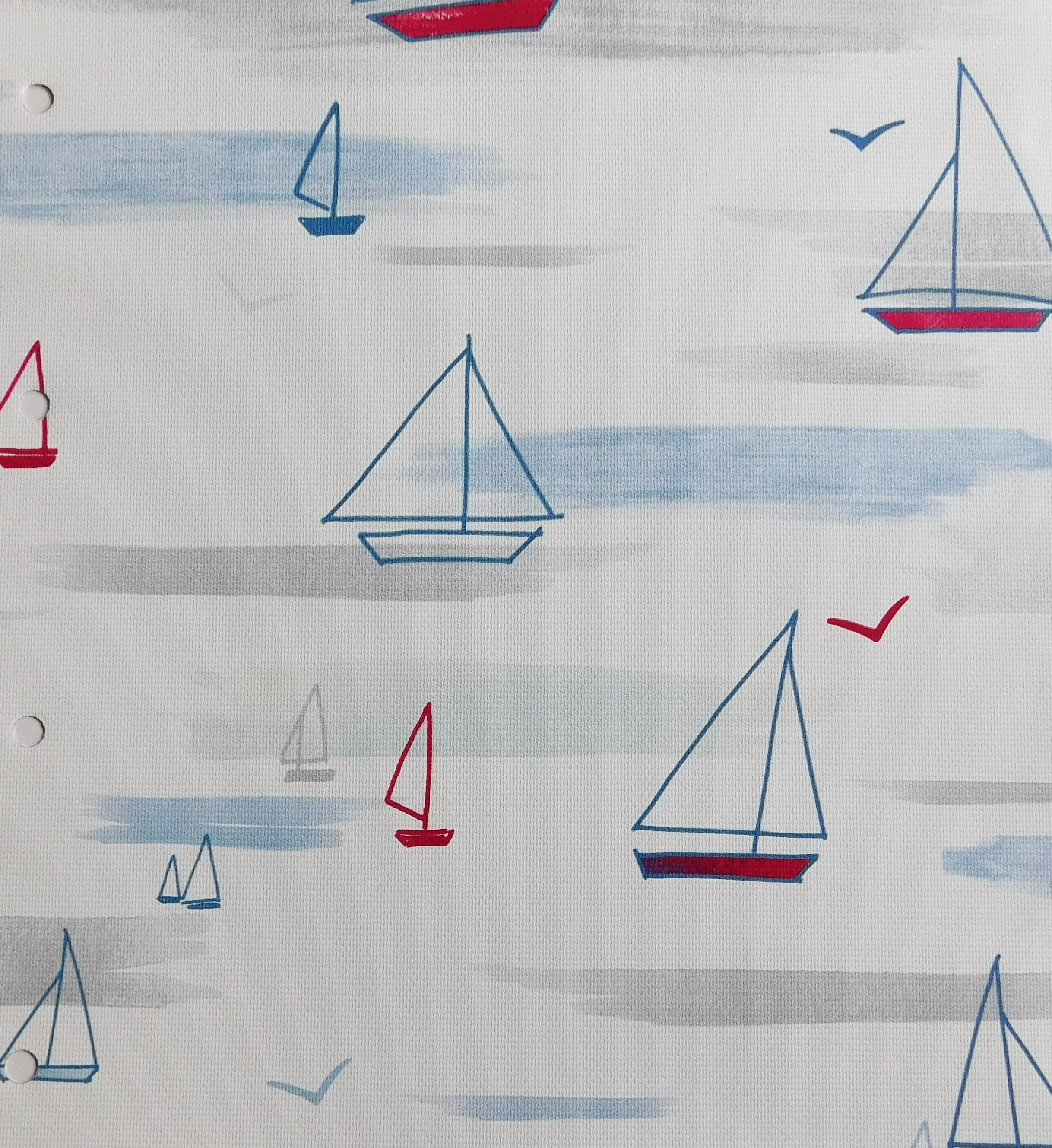 Maritime Nautical Blind Sample Fabric