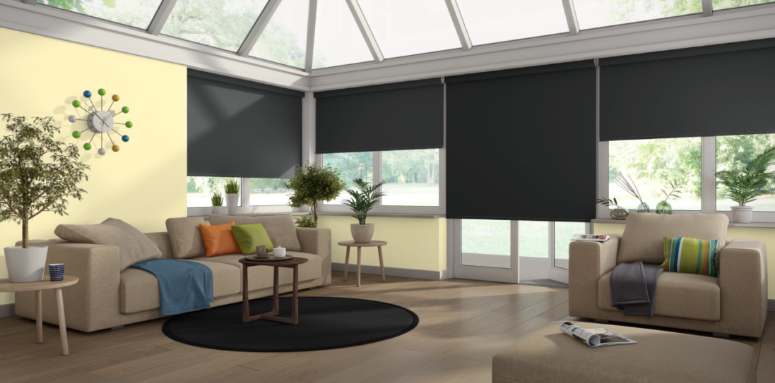 Prism Liquorice Senses Blackout Blinds