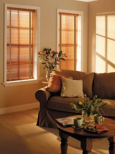 Saffron Basic wood Blinds with tapes