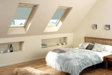 Velux 4555 Pale Blue Skylight Blackout Blind