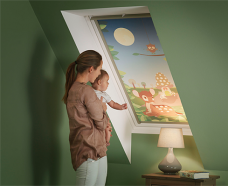 Velux-4613-blackout-Disney-Bambi-2 blind in skylight