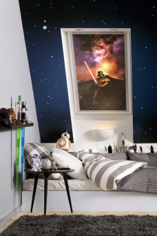 Velux-4710-blackout Star Wars Darth Vader blind in a bedroom
