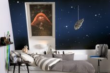 Velux 4712 Star Wars Kylo Ren Blinds in a bedroom