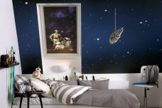 Velux 4713 Blackout Star Wars Droids blinds in a bedroom
