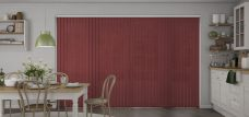 Atlantex Cherry ASC Vertical Blinds in a kitchen