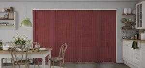 Atlantex Cherry ASC Vertical Blinds in a kitchen