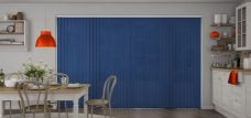 Atlantex ASC Dark Blue Vertical Blinds in a kitchen