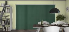 Atlantex ASC Hunter Green Vertical Blinds in a dining room