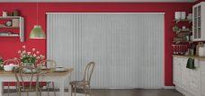 Atlantex ASC Silver Vertical blinds in a kitchen
