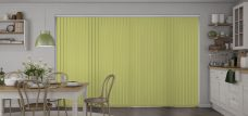 Atlantex Fresh Apple Vertical Blinds in a kitchen