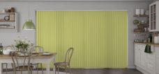 Atlantex Fresh Apple Vertical Blinds in a kitchen