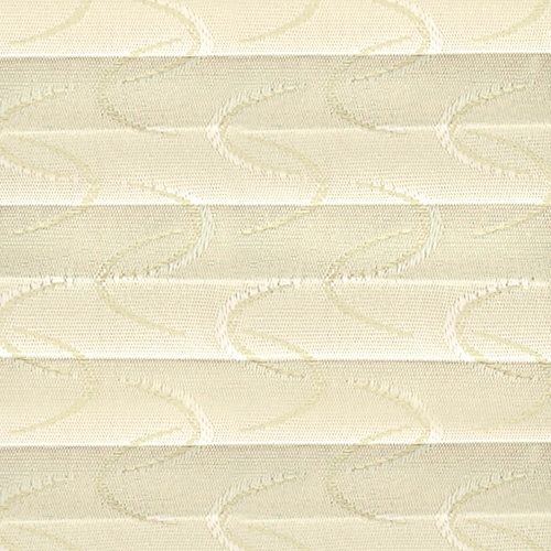 Aura Cream Pleated Blind Fabric