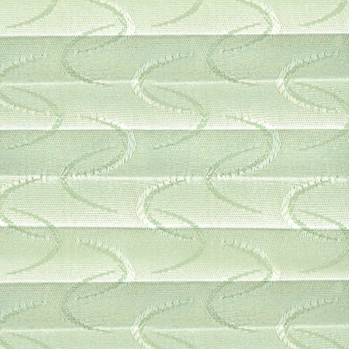 Aura Emerald pleated blind fabric