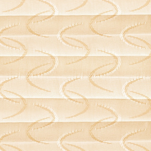 Aura Oyster Pleated Blinds Fabric