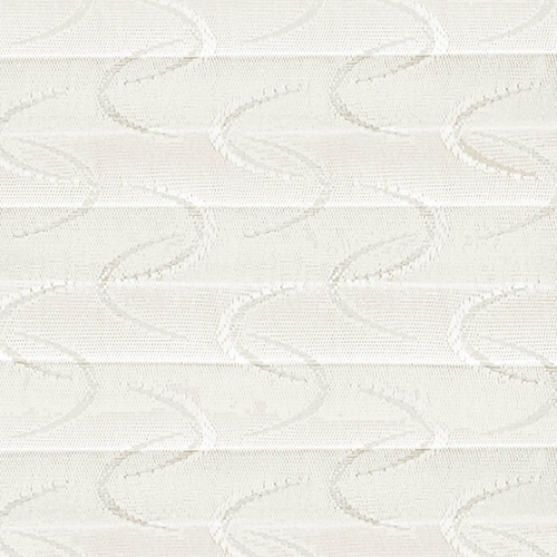 Aura White Pleated Blind Fabric
