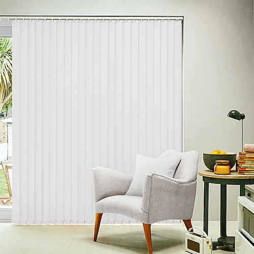 Carnival China White Vertical Blind
