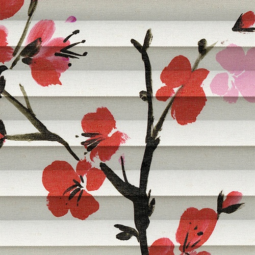 Cherry Blossom Geisha Pleated Blind Fabric