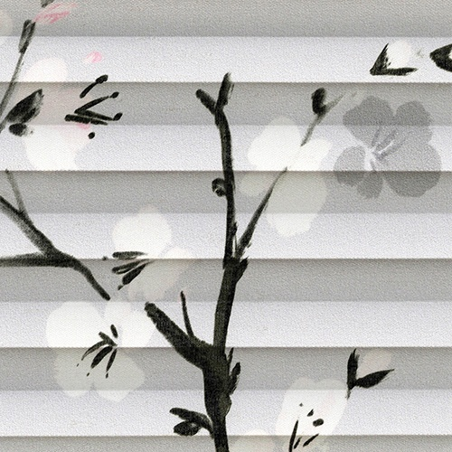 Cherry Blossom Serenity Pleated Blind Fabric