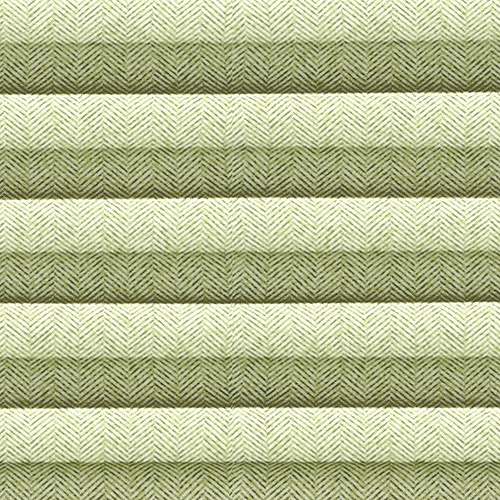 Herringbone Moss Green Pleated Blind Fabric