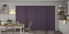 Palette Mulberry Vertical Blinds in a kitchen