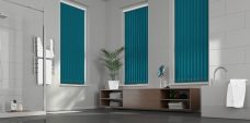Palette Ocean Vertical blinds in a bathroom