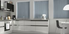 Palette Fog Vertical Blinds in a kitchen