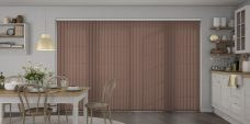 Palette Fudge Vertical Blinds in a kitchen