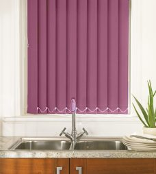 Palette Grape Vertical Blinds in a kitchen