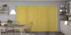 Palette Hemp Vertical Blinds in a kitchen