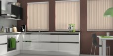 Palette Sand Vertical Blinds in a Kitchen