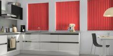 Palette Scarlet Vertical Blinds in a kitchen