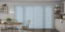 Palette Smokey Blue Vertical blind in a kitchen