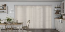 Palette Stone Grey Vertical Blinds in a kitchen