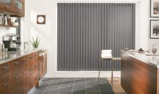 Palette Concrete Vertical Blinds in a kitchen