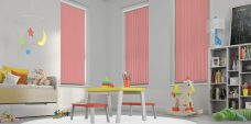 Palette Coral Vertical Blinds in a playroom