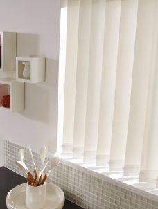 Palette Cream Vertical blind in a kitchen