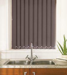Palette Espresso Vertical blind in a kitchen