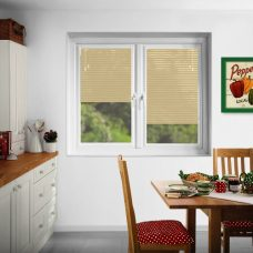 Beige Perfect fit Venetian Blinds in slats 4806 standard blinds fitted in a kitchen
